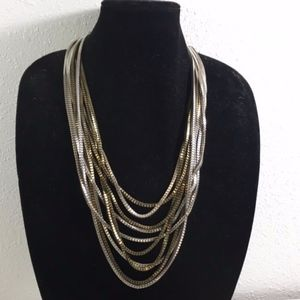 Express Chunky Metal Layered Fashion Necklace